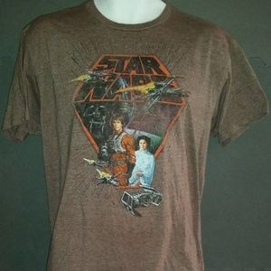 Star Wars Official Merchandise T-Shirt Luke & Leia